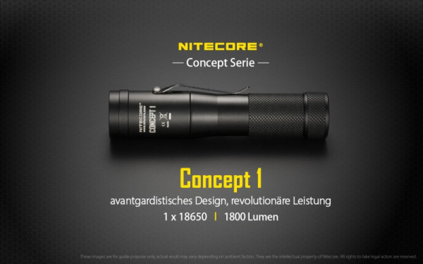 Nitecore LED-Taschenlampe Concept 1
