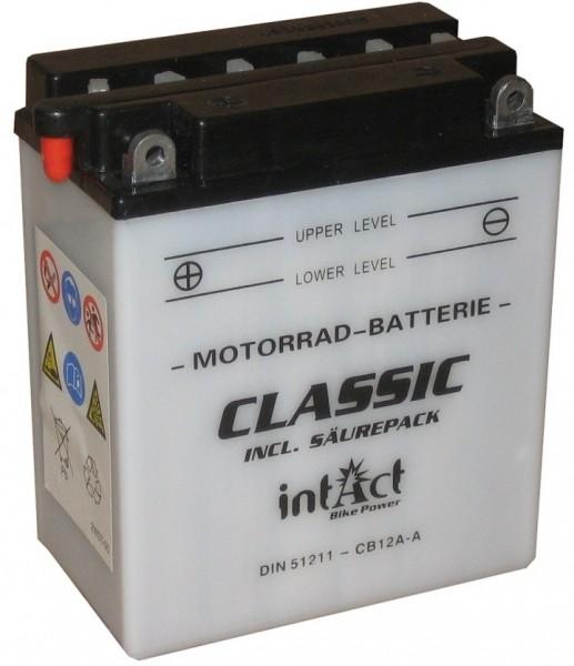 Intact Bike Power Classic - 51211S MoBa 12 V 12 AH (c20) 120 A (EN), CB12A-A