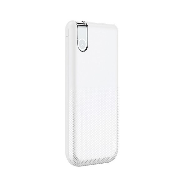 Baseus 2in1 Powerbank Qi Thin Wireless Charger 10000mAh White