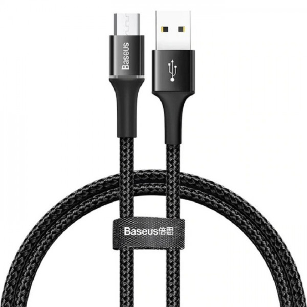 Baseus halo data cable USB For Micro 2A 2m Black