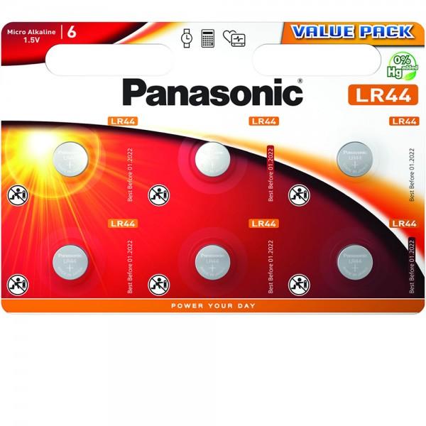 Panasonic Micro Alkaline 6x LR44