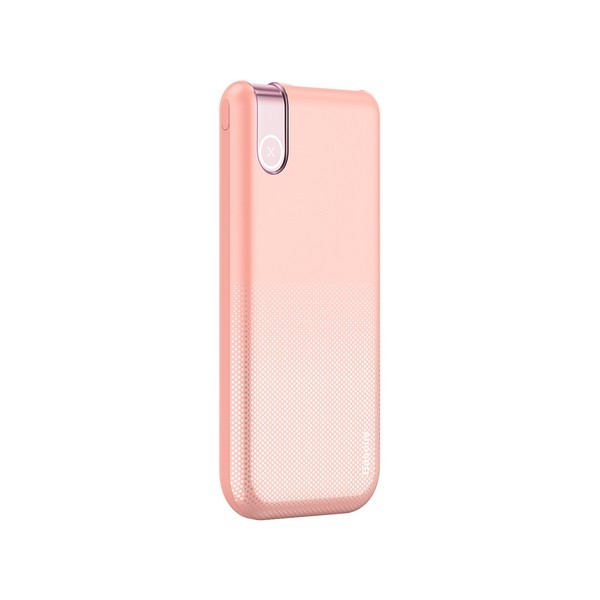 Baseus 2in1 Powerbank Qi Thin Wireless Charger 10000mAh Pink