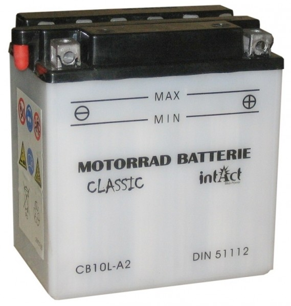 Intact Bike Power Classic - 51112S MoBa 12 V 11 AH (c20) 90 A (EN), CB10L-A2  +SP