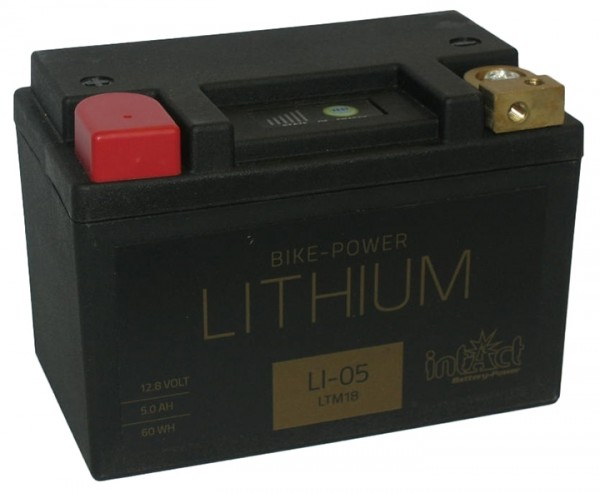 Intact Bike Power Lithium - LI-05 MoBa 12,8 V 5 AH (c10), 60 Wh 280 A (CCA), LTM18
