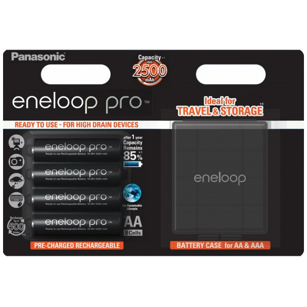 Panasonic Eneloop Pro 4x AA 2500mAh & Box