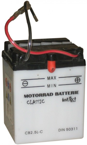 Intact Bike Power Classic - 50311S MoBa 12 V 2,5 AH (c20) 10 A (EN), CB2.5L-C  +SP