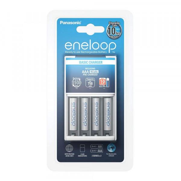 Panasonic Eneloop Basic Charger incl. 4x AAA 750mAh