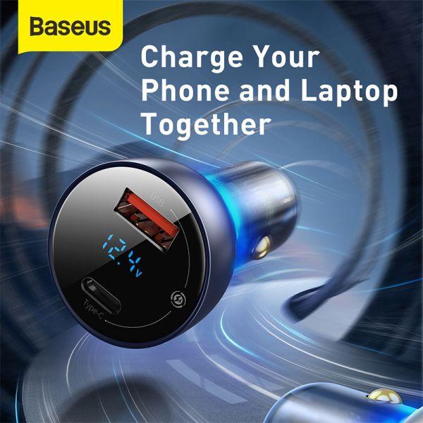 Baseus Dual Quick Charger 65W black