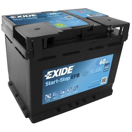 Exide Start-Stop EFB 12 V 60 AH (c20) 640 A (EN)  GUG