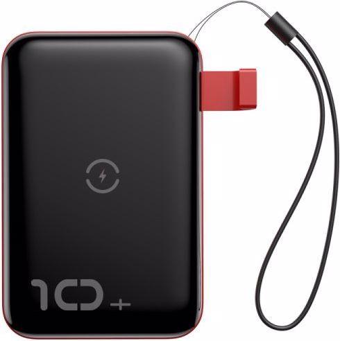 Baseus Mini S Bracket 10W Wireless Charger Power bank 10000mAh 18W Black+Red