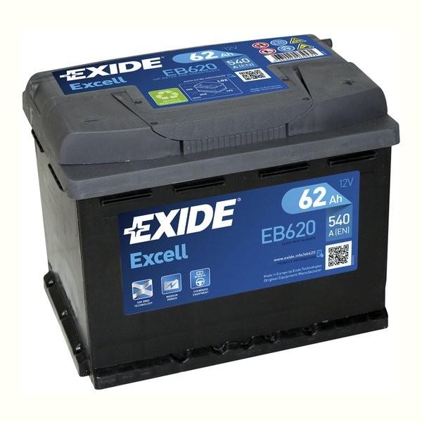 Exide Excell 12 V 62 AH (c20) 540 A (EN)  GUG
