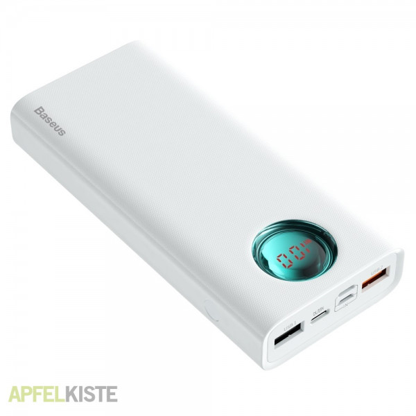 Baseus Amblight Digital Display Quick charge PD3.0+QC3.0 Power Bank 18W 20000mAh White