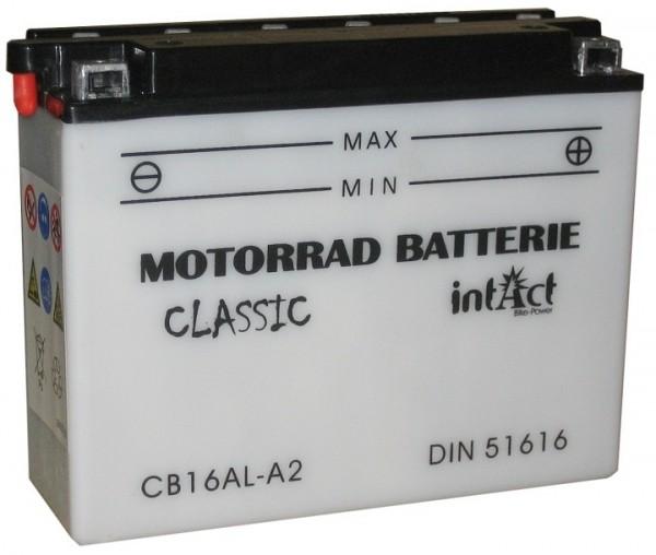 Intact Bike Power Classic - 51616S MoBa 12 V 16 AH (c20) 120 A (EN), CB16AL-A2
