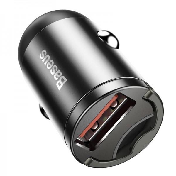 Baseus Tiny Star Mini Quick Charge Car Charger USB Port 30W Grey