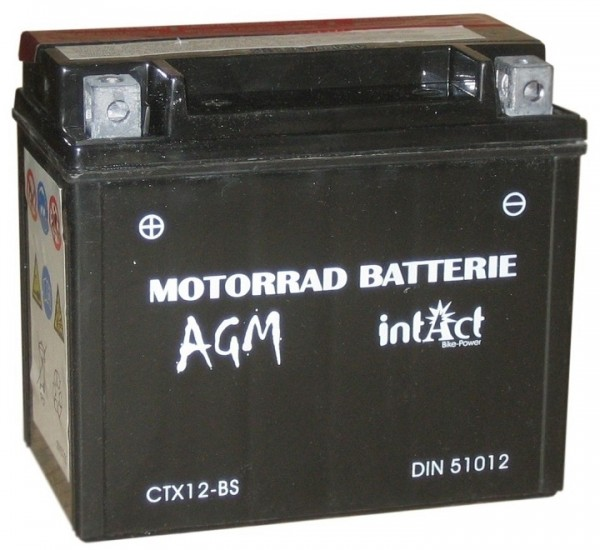 Intact Bike Power AGM - YTX12-BS MoBa 12 V 10 AH (c20) 130 A (EN), YTX12-BS