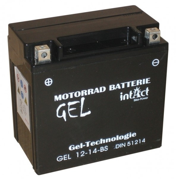Intact Bike Power Gel - GEL12-14-BS MoBa 12 V 12 AH (c20) 250 A (EN), YTX14-BS, 51214