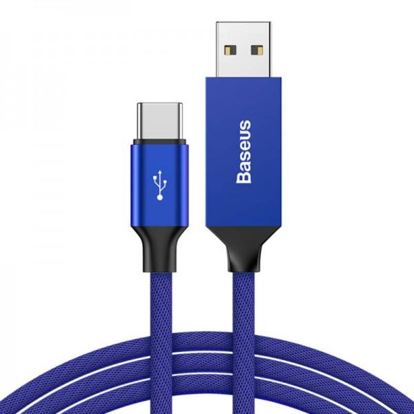 Baseus Artistic striped cable (USB A-C) 5m Blue