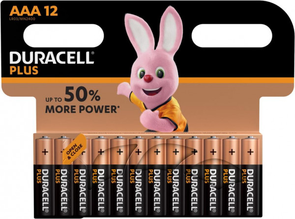 Duracell Plus Power 12x LR03 (AAA/MN2400)