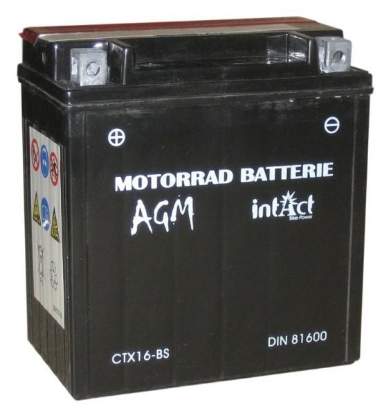 Intact Bike Power AGM - YTX16-BS MoBa 12 V 14 AH (c20) 220 A (EN), YTX16-BS