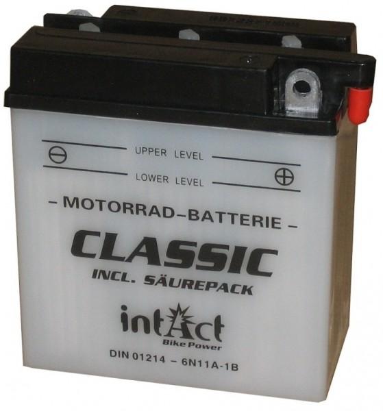 Intact Bike Power Classic - 01214S MoBa 6 V 11 AH (c20) 80 A (EN), 6N11A-1B  +SP