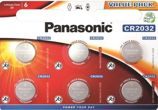 Panasonic Lithium Power 6x CR2032