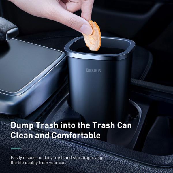 Baseus Dust-free Vehicle-mounted Trash Can(Trash Bag 3 roll/90)Black