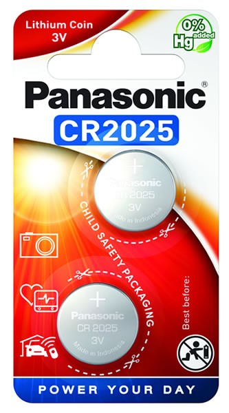 Panasonic Lithium Power 2x CR2025