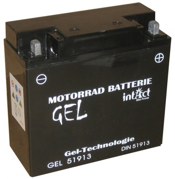 Intact Bike Power Gel - GEL51913 MoBa 12 V 21 AH (c20) 300 A (EN), BMW mit ABS