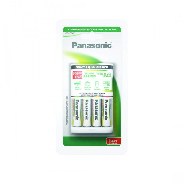 Panasonic Smart & Quick Charger 4x AA/AAA BQ CC55