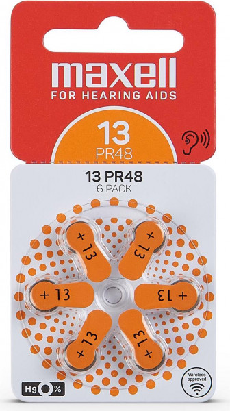 Maxell 6x 13 hearing aid battery