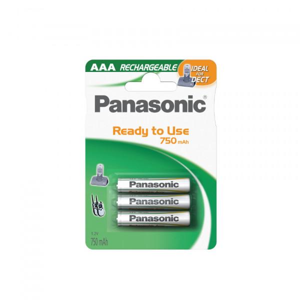 Panasonic DECT Akku 3x LR03 (AAA) 750mAh