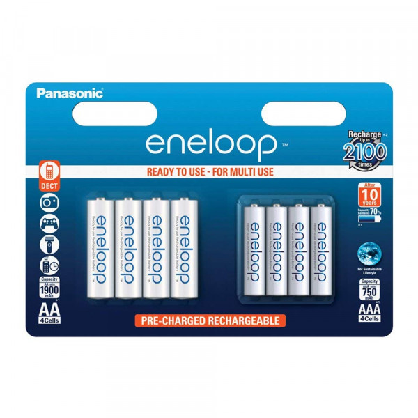 Panasonic Eneloop 4x AA + 4x AAA Pack