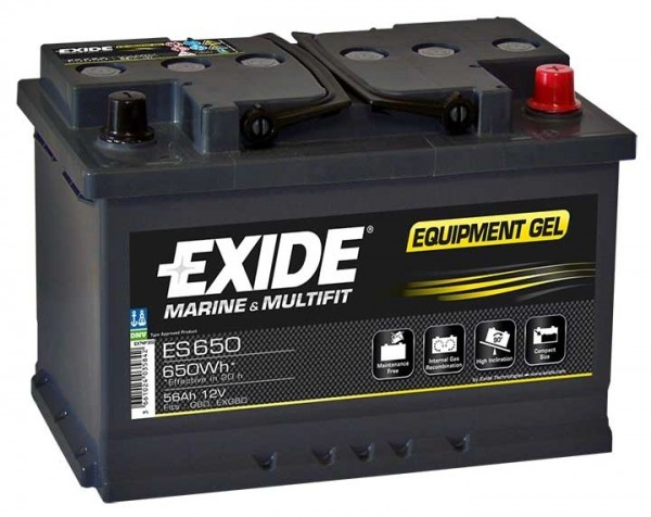 Exide ES650 12 V 56 AH (c20) 460 A (EN)  GUG