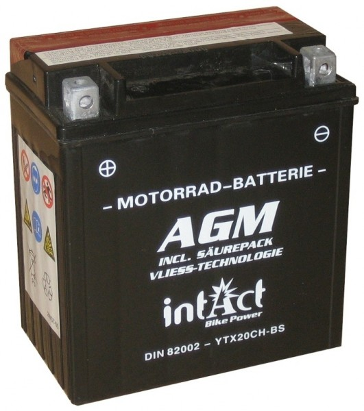 Intact Bike Power AGM - YTX20CH-BS MoBa 12 V 18 AH (c20) 280 A (EN), YTX20CH-BS