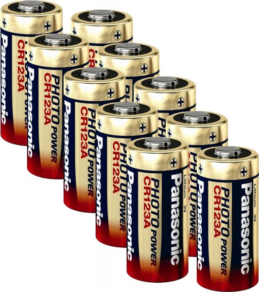 Panasonic Lithium Power 10x CR123 (Photo) Pack