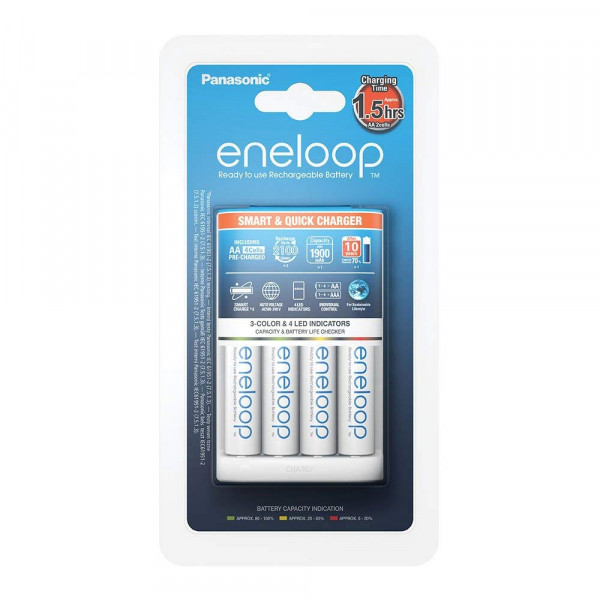 Panasonic Eneloop Smart & Quick Charger incl. 4x AA 1900mAh