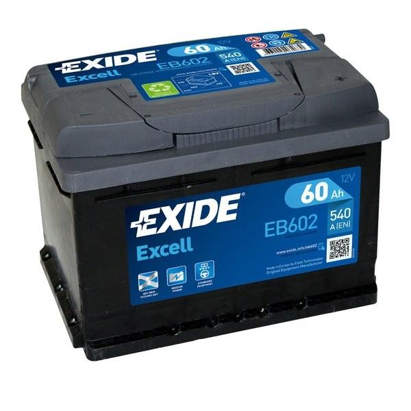 Exide Excell 12 V 60 AH (c20) 540 A (EN)  GUG