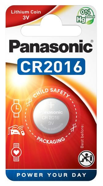 Panasonic Lithium Power 1x CR2016