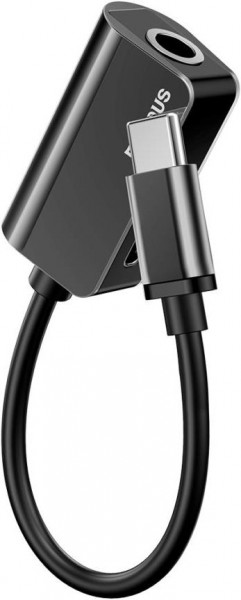 Baseus Adapter (USB C-3.5mm) 0.12m Black-Silver
