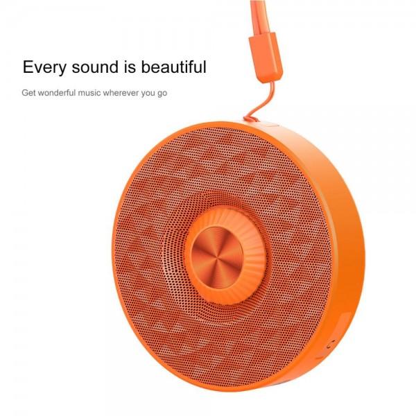 Baseus Outdoor Lanyard Bluetooth Speaker E03 Orange