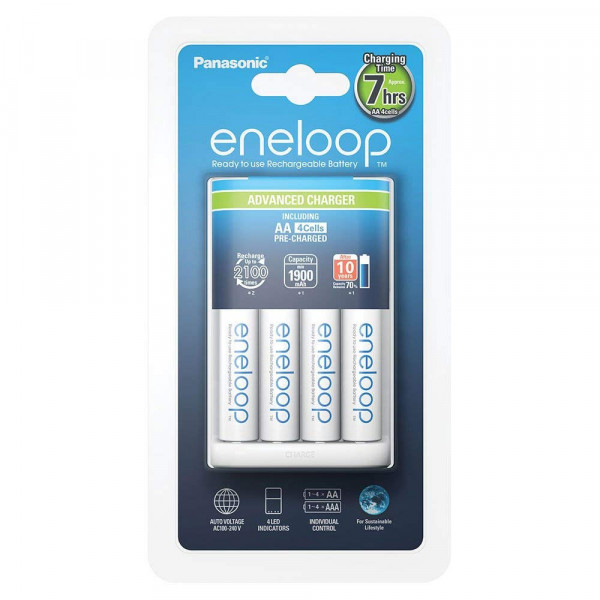 Panasonic Eneloop Advanced Charger incl. 4x AA 1900mAh