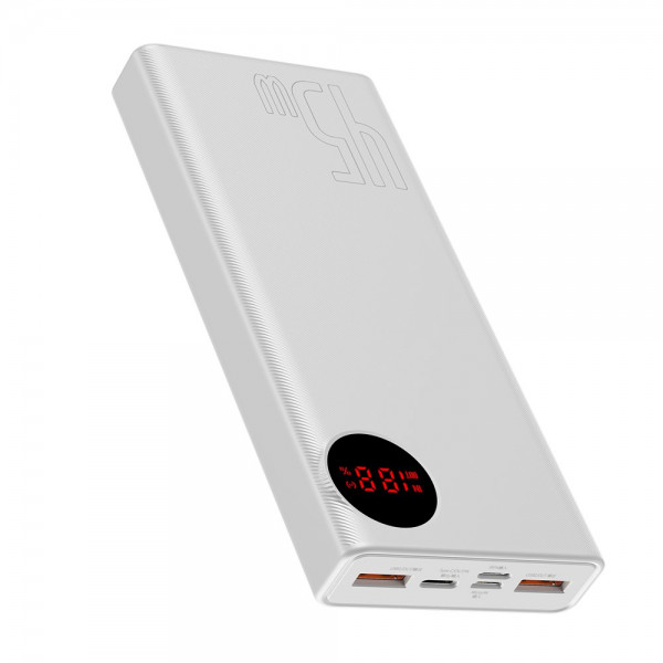 Baseus Mulight Digital Display Quick Charge Power Bank 45W 20000mAh White