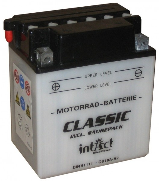 Intact Bike Power Classic - 51111S MoBa 12 V 11 AH (c20) 90 A (EN), CB10A-A2  +SP