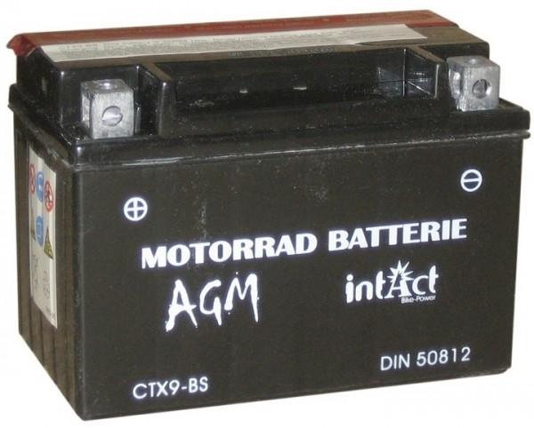 Intact Bike Power AGM - YTX9-BS MoBa 12 V 8 AH (c20) 120 A (EN), YTX9-BS