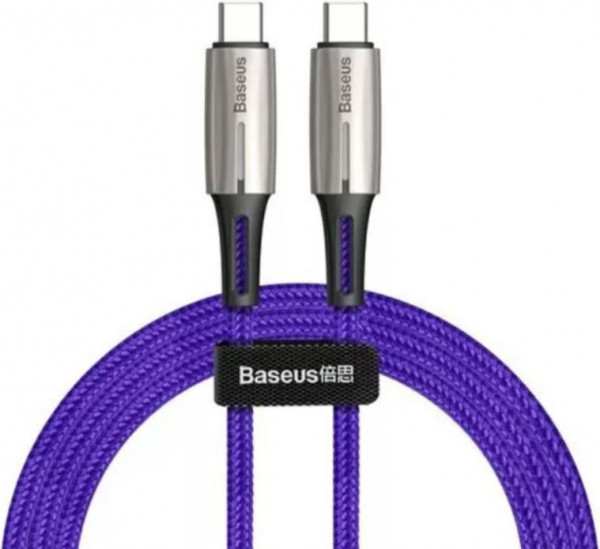 Baseus Water Drop-shaped Lamp Type-C PD2.0 Flash Charge Data Cable 2m Purple