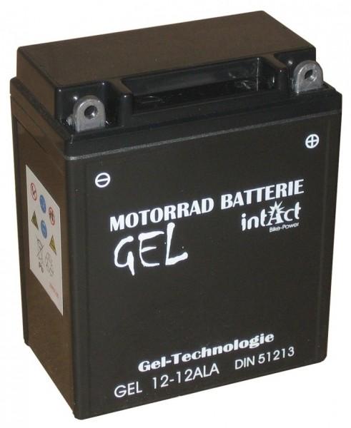 Intact Bike Power Gel - GEL12-12AL-A MoBa 12 V 12 AH (c20) 210 A (EN), YB12AL-A, 51213