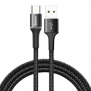 Baseus halo data cable USB For Type-C 2A 2M Black
