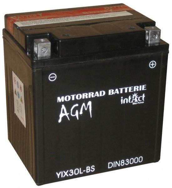Intact Bike Power AGM - YIX30L-BS MoBa 12 V 30 AH (c20) 350 A (EN), YIX30L-BS