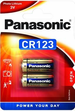 Panasonic Lithium Power 2x CR123 (Photo)