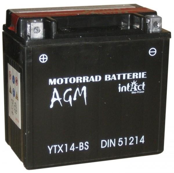 Intact Bike Power AGM - YTX14-BS MoBa 12 V 12 AH (c20) 140 A (EN), YTX14-BS
